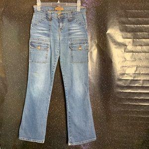Arden B- Medium Wash Mult-pocket Jeans size 2